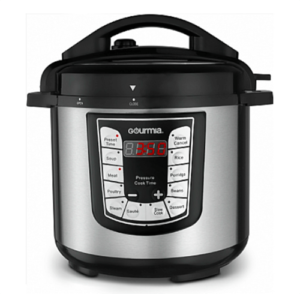 Gourmia GPC625 ExpressPot Electric Digital Multi-function Pressure Cooker, 13 Cooking Modes, Stainless Steel, with Steam Rack, (6 QT.)