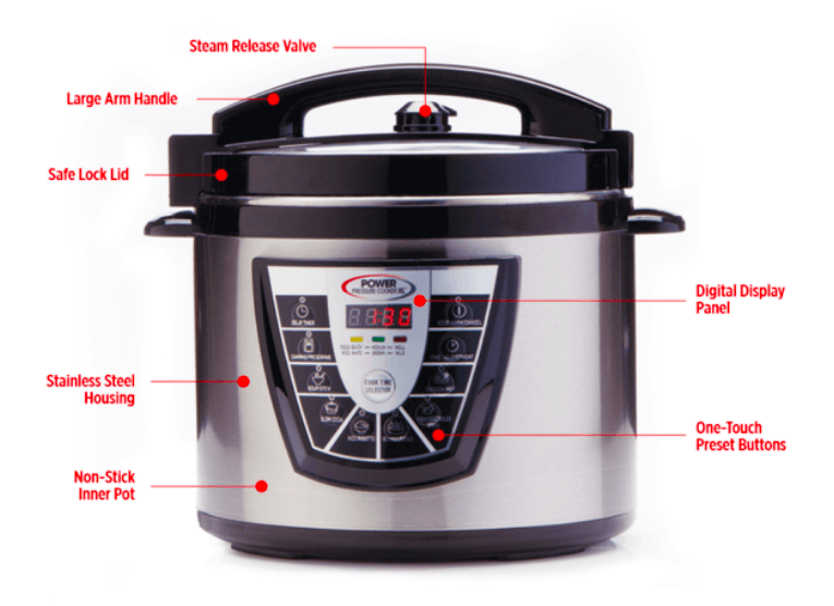 Power Pressure Cooker XL features